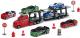 Набор игрушечных автомобилей Dickie Трейлер / 203745001 (6 авто + дорожные знаки) -