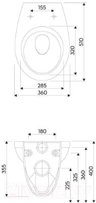 Унитаз подвесной с инсталляцией Geberit 458.126.00.1 + 115.125.21.1 + M1310002U