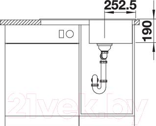 Мойка кухонная Blanco Legra 45S / 522206