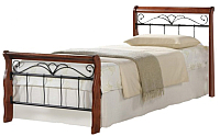 Односпальная кровать Halmar Veronica 90x200 (античная черешня/черный) -