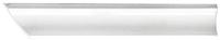 Плинтус керамический М-Квадрат 540000 (35x35x200, белый, правый) -