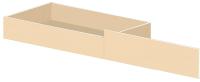Ящик под кровать Олмеко 900 (венге/дуб линдберг) -