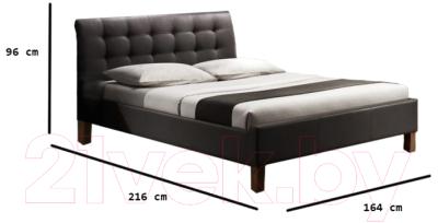 Двуспальная кровать Halmar Samara (черный)