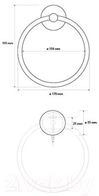 Кольцо для полотенца Bemeta 104104060