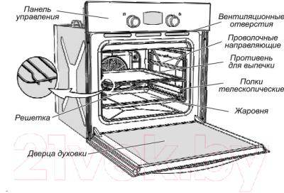 Электрический духовой шкаф Gefest ЭДВ ДА 622-02 К47