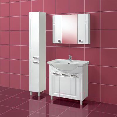 Шкаф-пенал для ванной Акваль Оливия 30 / EO.03.00.00.R