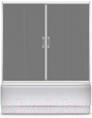 Стеклянная шторка для ванны Avanta DЕ 170 (серое стекло)