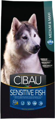 Корм для собак Farmina Cibau Sensitive Fish Medium & Maxi  (2.5кг)