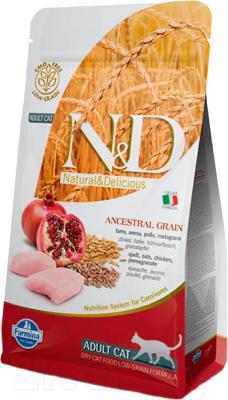 Корм для кошек Farmina N&D Low Grain Chicken & Pomegranate Adult (1.5кг)