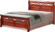 Двуспальная кровать Signal Genewa 160x200 (античная черешня) -
