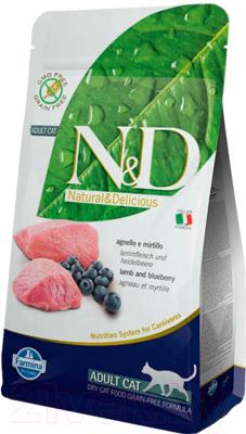 Корм для кошек Farmina N&D Grain Free Cat Lamb & Blueberry Adult (1.5кг)