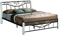 Двуспальная кровать Signal Parma 160x200 (белый/черный) -