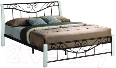 Двуспальная кровать Signal Parma 160x200 (белый/черный)