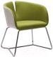 Кресло мягкое Halmar Pivot (белый/зеленый) -