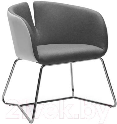 Кресло мягкое Halmar Pivot (белый/серый)