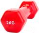 Гантель Bradex SF 0161 (2кг, красный) -