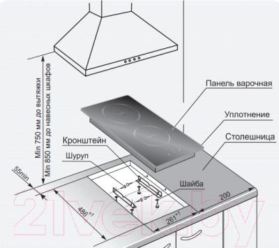 Индукционная варочная панель Gefest ПВИ 4000