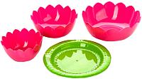 Набор салатников Berossi Лотос ИК 08949000 (фламинго) -