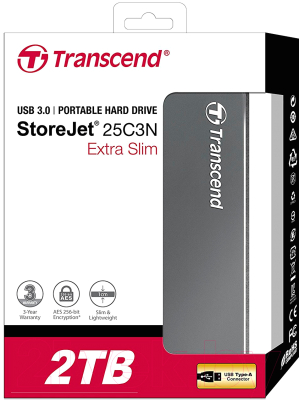 Внешний жесткий диск Transcend StoreJet 25C3 2TB (TS2TSJ25C3N)