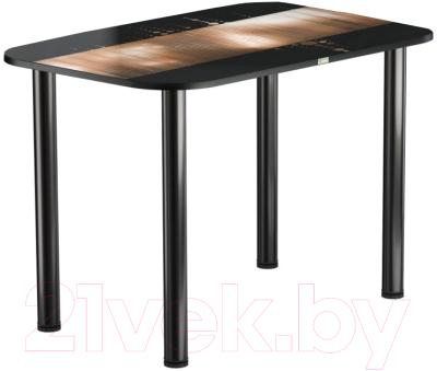 Обеденный стол Васанти Плюс ПРФ 120x80 (черный/112)