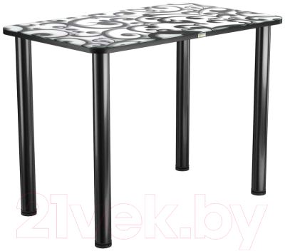 Обеденный стол Васанти Плюс ПРФ 120x80 (черный/122)