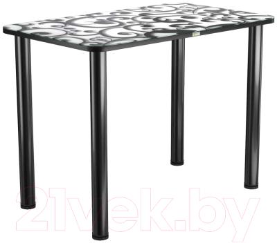 Обеденный стол Васанти Плюс ПРФ 110x70 (черный/122)
