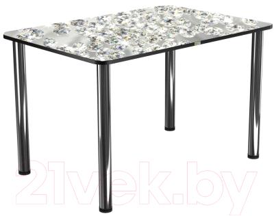 Обеденный стол Васанти Плюс ПРФ 110x70 (хром/117)