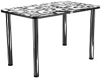 Обеденный стол Васанти Плюс ПРФ 110x70 (хром/122) -