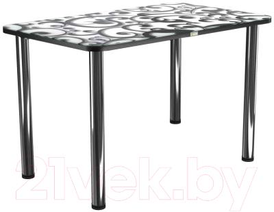 Обеденный стол Васанти Плюс ПРФ 110x70 (хром/122)