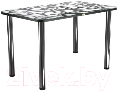 Обеденный стол Васанти Плюс ПРФ 100x60 (хром/122)