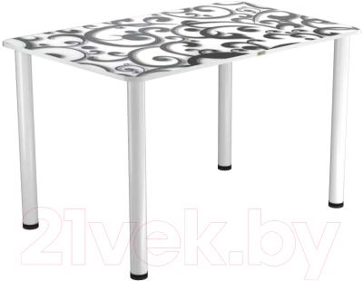 Обеденный стол Васанти Плюс ПРФ 100x60 (белый/122)
