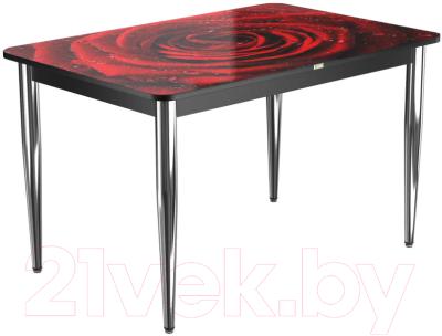 Обеденный стол Васанти Плюс ПРФ 120x80/3К/ОЧ (хром/109)