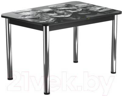 Обеденный стол Васанти Плюс ПРФ 120x80/3/ОЧ (хром/98)