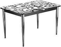Обеденный стол Васанти Плюс ПРФ 120x80/3К/ОЧ (хром/122) -