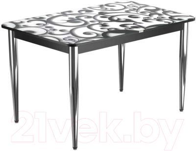 Обеденный стол Васанти Плюс ПРФ 100x60/3К/ОЧ (хром/122)