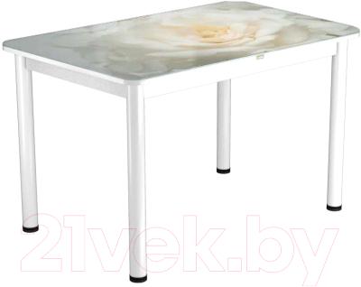 Обеденный стол Васанти Плюс ПРФ 100x60/3/ОБ (белый/120)