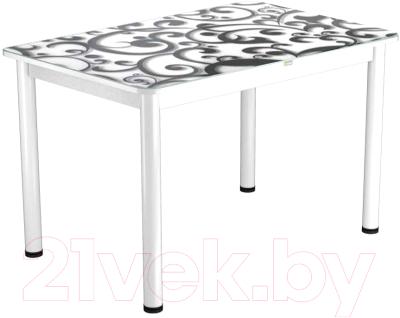 Обеденный стол Васанти Плюс ПРФ 100x60/3/ОБ (белый/122)