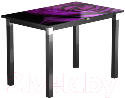 Обеденный стол Васанти Плюс Васанти-2 110x70/ОЧ (черный/хром/99)