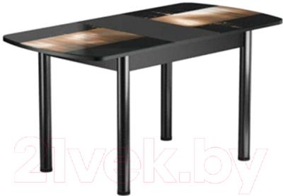 Обеденный стол Васанти Плюс БРФ 110/142x70Р/ОЧ (черный/112)