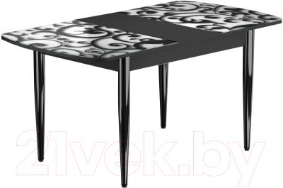 Обеденный стол Васанти Плюс БРФ 110/142x70/1Р/ОЧ (черный/122)