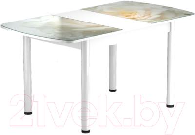 Обеденный стол Васанти Плюс БРФ 110/142x70Р/ОБ (белый/120)