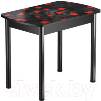 Обеденный стол Васанти Плюс БРФ 100/132x60Р/ОЧ (черный/104)
