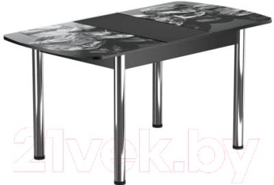 Обеденный стол Васанти Плюс БРФ 100/132x60Р/ОЧ (хром/98)