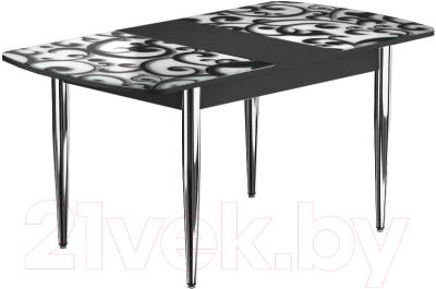 Обеденный стол Васанти Плюс БРФ 100/132x60/1Р/ОЧ (хром/122)