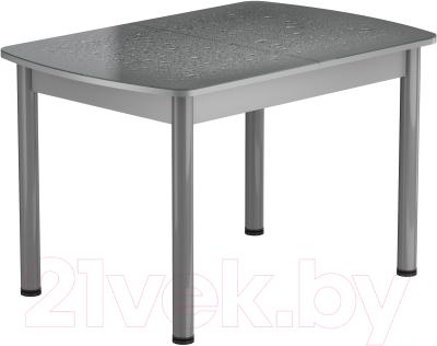 Обеденный стол Васанти Плюс БРФ 100/132x60Р/ОА (алюминий/капли серые)