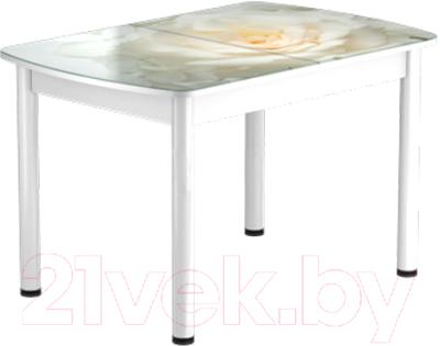 Обеденный стол Васанти Плюс БРФ 100/132x60Р/ОБ (белый/120)