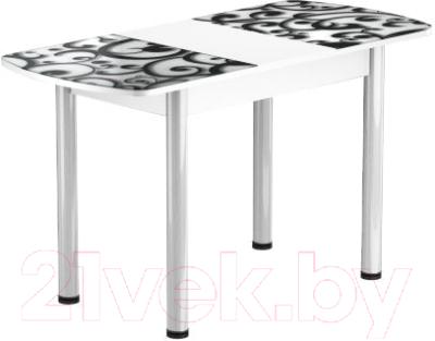Обеденный стол Васанти Плюс БРФ 100/132x60Р/ОБ (белый/122)