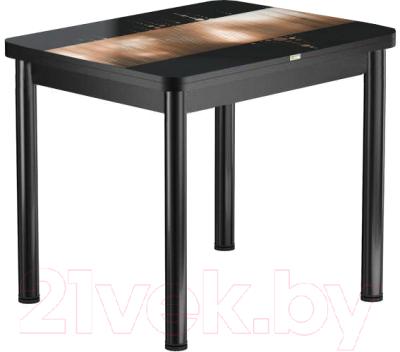 Обеденный стол Васанти Плюс ПРФ 80x60/120 РШ/ОЧ (черный/112)