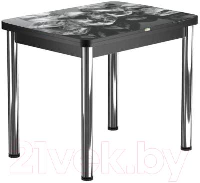 Обеденный стол Васанти Плюс ПРФ 80x60/120 РШ/ОЧ (хром/98)