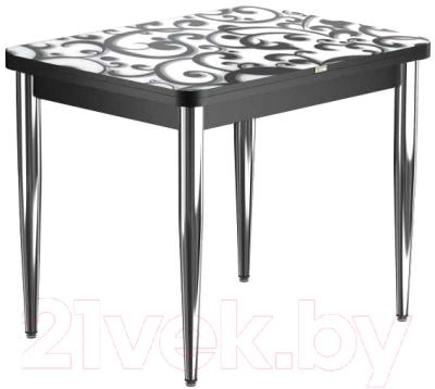 Обеденный стол Васанти Плюс ПРФ 80x60/120 РШ/к/ОЧ (хром/122)